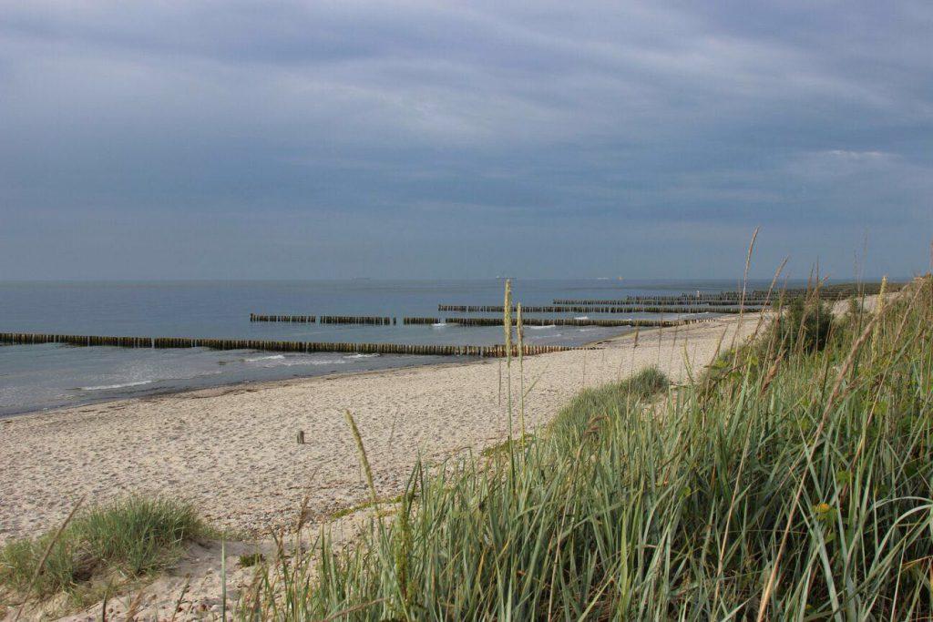Der Strand hinter dem geplanten Baugebiet
